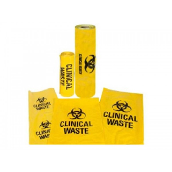 Clinical Waste 54 Litre Bag - Yellow HDPE