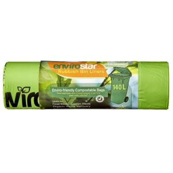 140LT GREEN COMPOSTABLE BIN LINERS